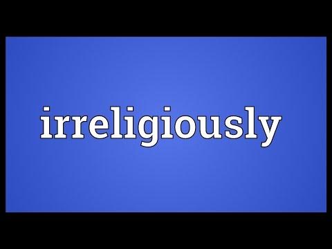 Header of irreligiously