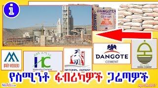 የስሚንቶ ፋብሪካዎች ጋሬጣዎች - Ethiopian cement factories - DW