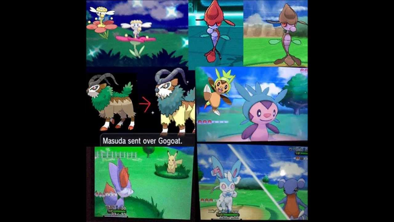 Pokemon X and Y meet the Shiny versions of the Starters ...
