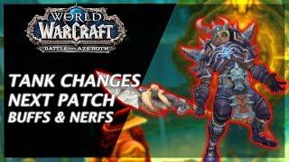 ALL TANK CHANGES IN 8.1 - Prot Warrior & Guardian Druid BUFFS!!!
