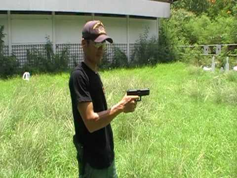 GLOCK 21 .45 ACP  One hand chambering by pongler 1