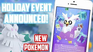 Holiday Event Announced In Pokemon Go Including New Pokemon!