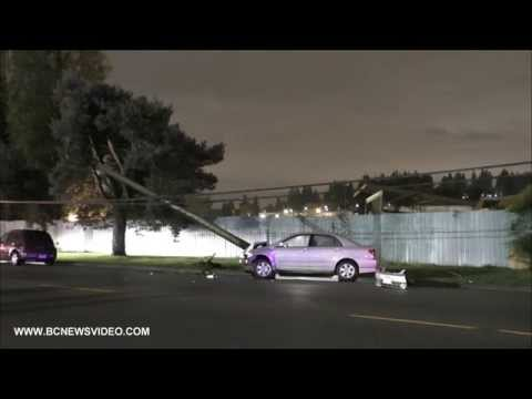 Car Crash Hit Power Pole On Kingsway Ave October 31...