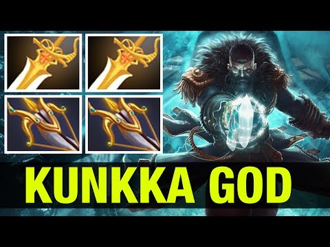 THE KUNKKA GOD - !Attacker WITH 2 DIVINES AND 2 DAEDALUS - Dota 2