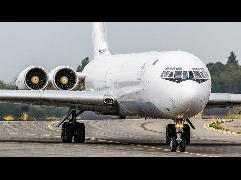 ILYUSHIN IL-62 - The Last IL62  Freighter worldwide - LANDING and DEPARTURE (4K, RARE!)