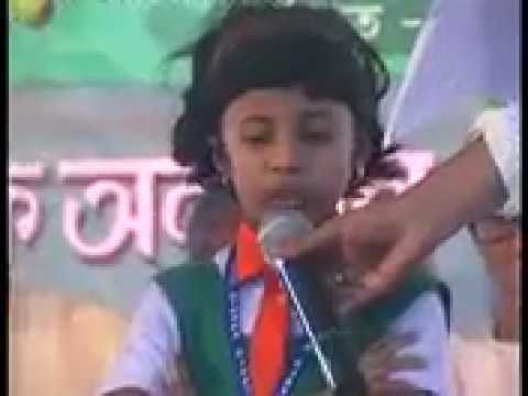 Ami sei meye | আমি সেই মেয়ে | Awesome recitation by a little girl
