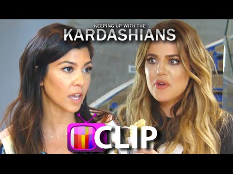 'KUWTK': Kourtney & Khloe Kardashian Fight Over $25,000