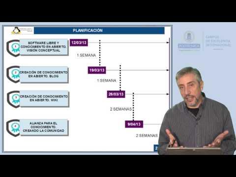 SWLCA: 0.2. Planificación del curso de software libre y conocimiento en abierto