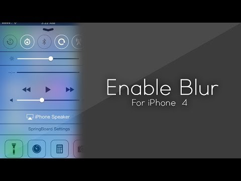 Enable iOS 7 Blur/Parallax On iPhone 4 / Unsupported Devices.