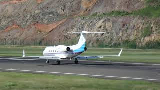 Gulfstream departure from  AIA