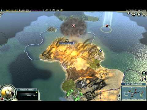 Civilization V Nuclear Missiles Destroying Cities