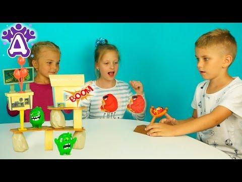 Энгри бердс Игры Для Детей Распаковка Unboxing toys Angry Birds Games for children Розыгрыш игрушки
