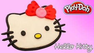 HELLO KITTY Play-Doh How to make HELLO KITTY with Playdough HELLO KITTY PLAYDOH
