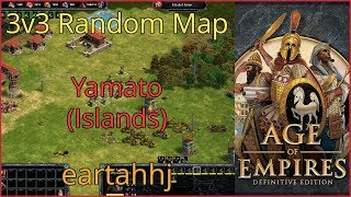 Age of Empires: Definitive Edition - 3v3 RM Yamato Islands - eartahhj - 30/06/2019