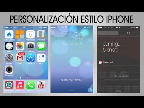 [Personalización extrema] tu Android al estilo iOS7 // iPhone    AndroidStudios