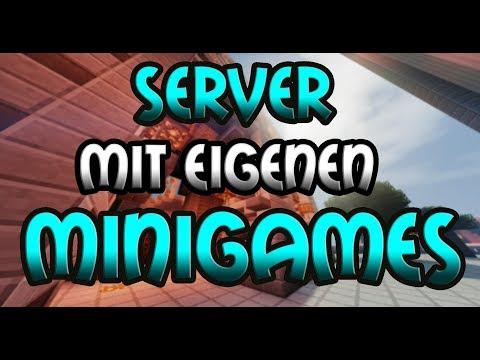SERVER mit EIGENEN MINIGAMES - Minecraft Server Vorstellung 1.8 || Deutsch/German
