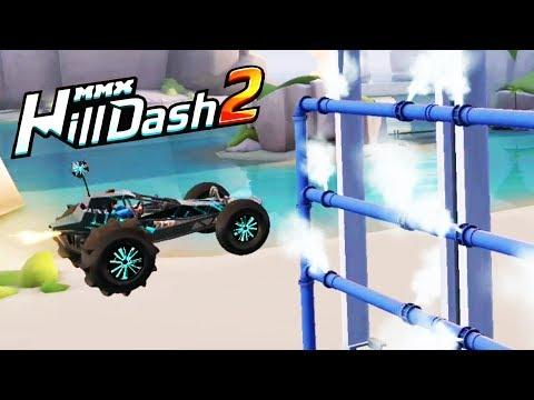 Последние самые сложные уровни в MMX HILL DASH 2 игра видео про машинки