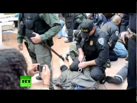 Police brutally arrest.
