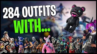 NEW Stitches Back Bling on 284 Outfits | LACE Outfit - Fortnite Cosmetics