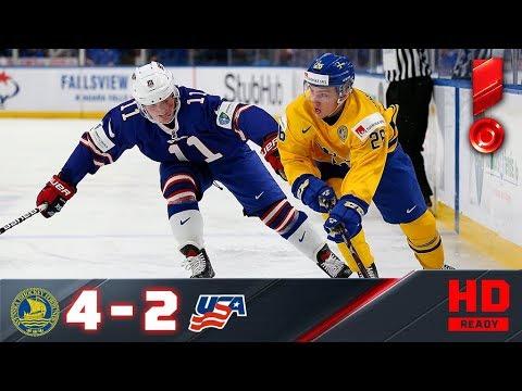 04.01.2018г. ЧМ U-20. 1/2 финала. Швеция - США - 4:2. Обзор матча