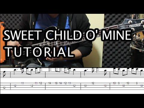 Como tocar Sweet Child O Mine de Guns Roses Tutorial Bajo