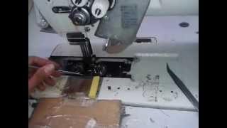 how to set the sewing machine double nedle ( cara setting mesin jahit doble nedle)