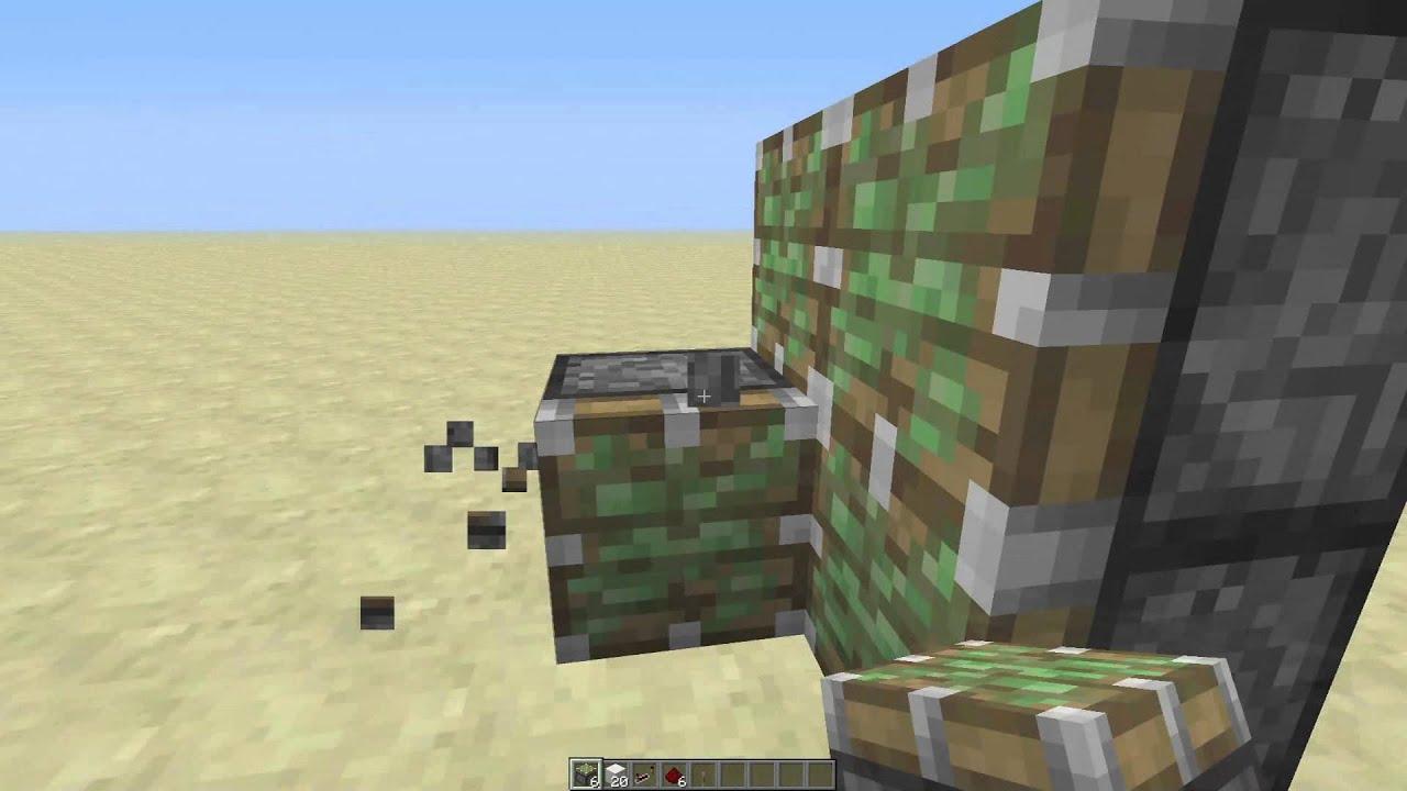 Piston Door Minecraft 2x1 2x1 Flush Piston Door