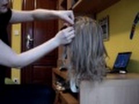 Trenza de raiz y trenza cascada con cordones (para comunion)-pedido Ana