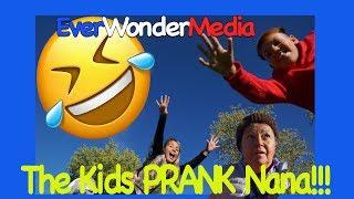 The Kids Prank Nana LOL - Short Funny Clip