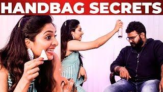 Syamantha Kiran Handbag Secrets Revealed   Vijay Tv Saravanan Meenatchi   What's Inside The HANDBAG