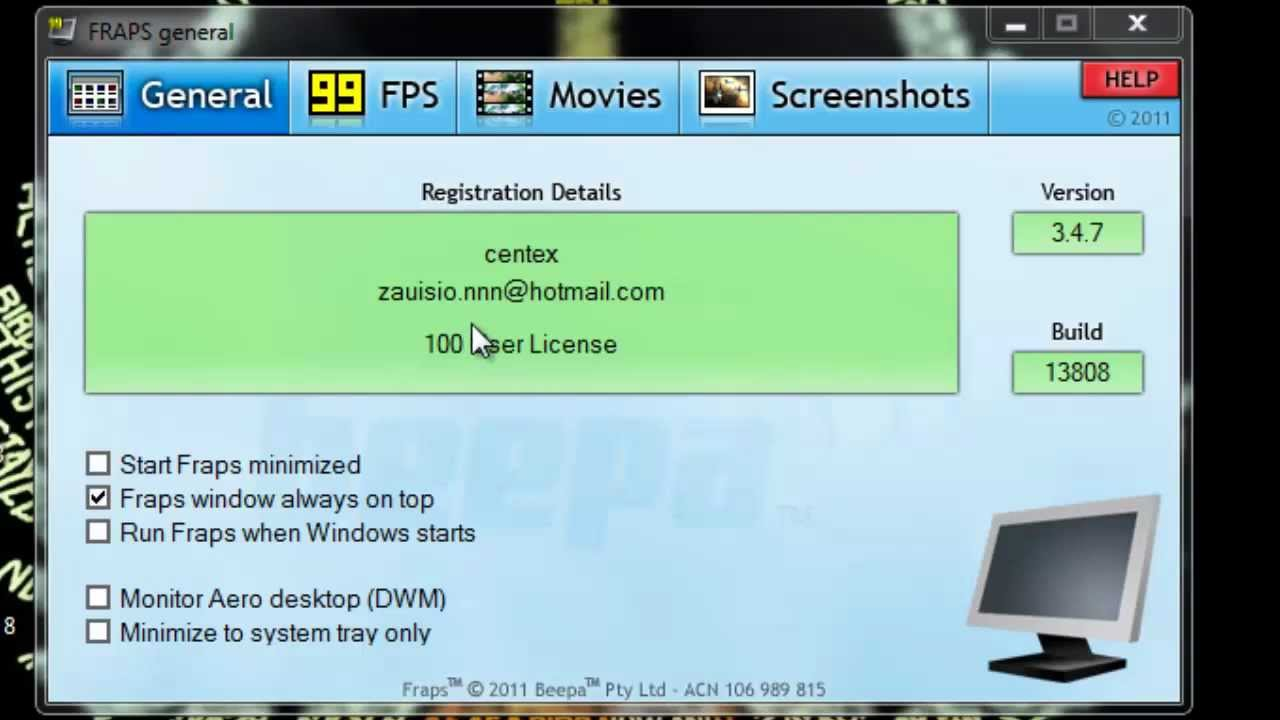 How to get Fraps Full Version for Free! 2014 [HD] - YouTube