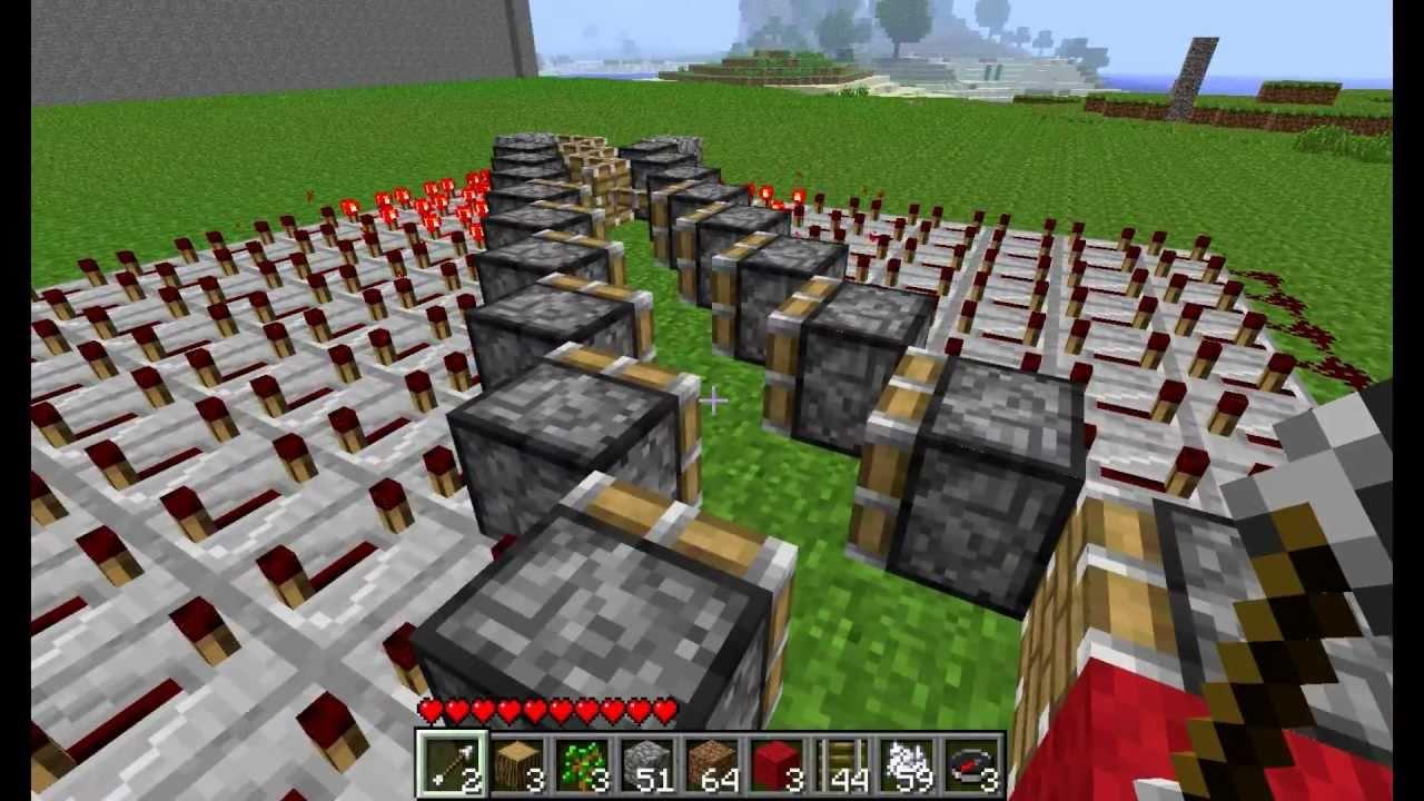 Cool Tricks in Minecraft Minecraft Piston Trick