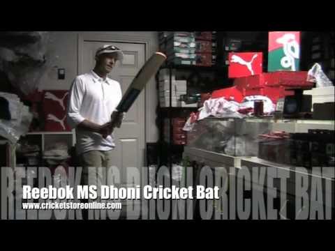 ms dhoni cricket bat