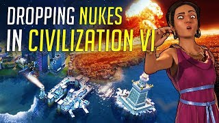 Dropping NUKES in Civilization 6: Gathering Storm! - Gameplay & Feature Breakdown