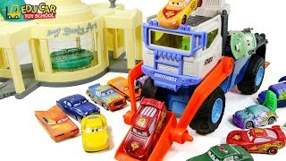 Learning Color Disney Lightning McQueen Mack Truck Water pool color change car toys Play for kids
