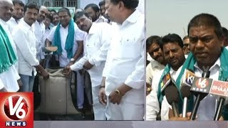 TRS MLA Jeevan Reddy Inaugurates Red Maize Crop Purchase Centers In Nizamabad District