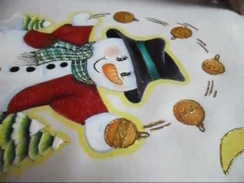 como pintar un mu eco de nieve en tela paso a paso parte 3