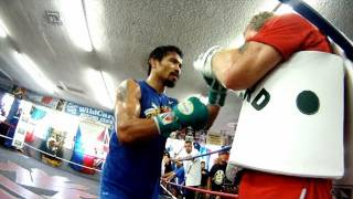 Manny Pacquiao training for Marquez