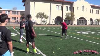 JR Redmond Elite Football Exposure Camp RB Drill #1