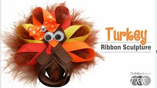How to Make a Turkey Ribbon Sculpture - TheRibbonRetreat.com