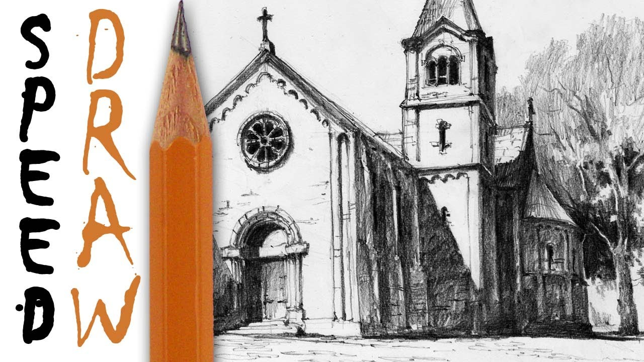 Church Perspective Drawing How to Draw Architecture