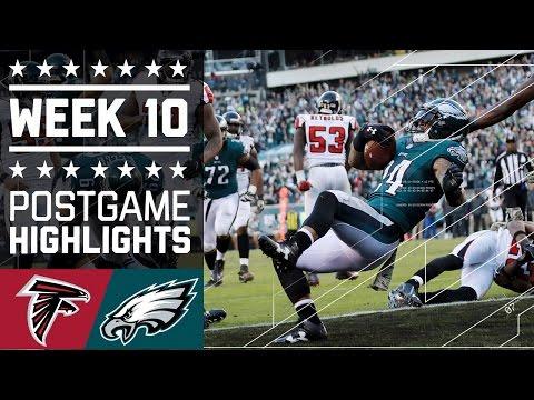 Falcons Vs Eagles Nfl Week 10 Game Highlights