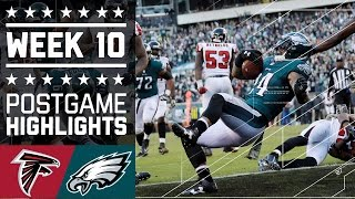 Falcons vs. Eagles | NFL Week 10 Game Highlights