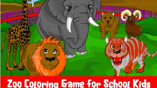 Zoo Coloring Game -  Learning Educational Games for School Children