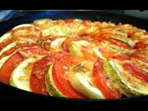 Кабачки, запеченные с помидорами и сыром//Рататуй