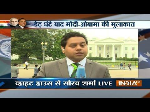 India TV Live Reporting Outside White House Washington DC