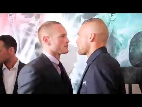GEORGE GROVES v CHRISTOPHE REBRASSE HEAD TO HEAD @ FINAL PRESS CONFERENCE / RETURN OF THE SAINT