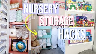 NURSERY ORGANIZATION IDEAS | BOOK, DIAPERS, CLOTHES, & MORE! SMALL NURSERY IDEAS | NIA NICOLE