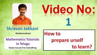 Tools to Learn Maths    Maths tutorials by Shravan Jakkani