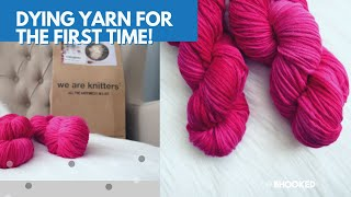 DYING YARN for the first time with We Are Knitters Born to Dye Kit!!